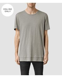 AllSaints - Gray Reach Crew T-shirt for Men - Lyst