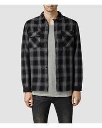 AllSaints   Black Hydrangea Short Sleeve Shirt for Men   Lyst