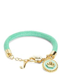 Juicy Couture | Green Status Coin Bracelet | Lyst