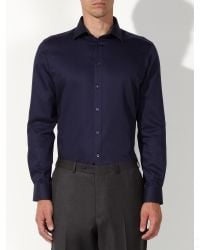 John Lewis - Black Satin Dobby Tailored Shirt for Men - Lyst