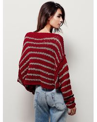 Free People - Red Over Easy Pullover - Lyst
