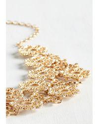 Ana Accessories Inc - Metallic Gold Petal Recipient Necklace - Lyst