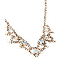 Forever 21 - Metallic Scalloped Rhinestone Statement Necklace - Lyst