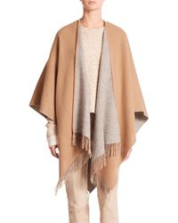 Rag & Bone - Natural Double Face Wool Poncho - Lyst
