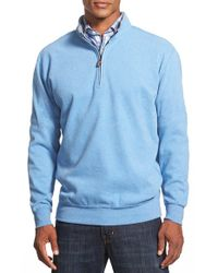 Peter Millar - Blue Knit Quarter Zip Pullover for Men - Lyst