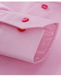 Eton of Sweden - Pink Slim Fit Striped Shirt for Men - Lyst