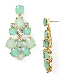 kate spade new york | Green Chandelier Earrings | Lyst