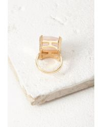 Forever 21 | Metallic Faux Stone Cocktail Ring | Lyst