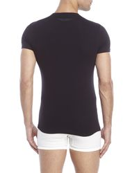 DSquared² | Black Crew Neck T-Shirt for Men | Lyst