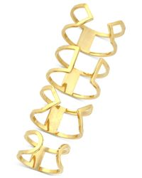 Vince Camuto | Metallic Gold-tone Set Of 4 Open Cuff Rings | Lyst