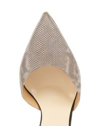 Francesco Russo - Gray Pointed-Toe Snakeskin and Suede Pumps - Lyst