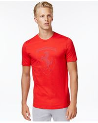 PUMA | Red Men's Ferrari Big Shield T-shirt for Men | Lyst