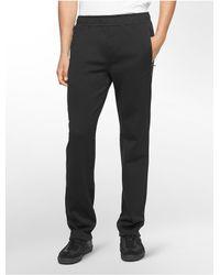 Calvin Klein - Black White Label Performance Fleece Sweatpants for Men - Lyst