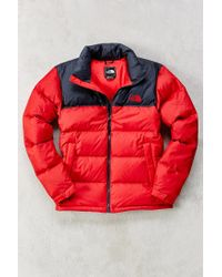 The North Face | Red Nuptse Jacket for Men | Lyst