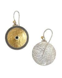 Gurhan | Metallic Spinel And Gold Shield Drop Earrings | Lyst
