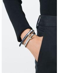 McQ | Metallic Double Strap Swallow Bracelet | Lyst