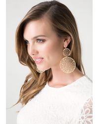 Bebe | Metallic Filigree Circle Earrings | Lyst