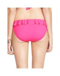 Polo Ralph Lauren - Pink Ruffled Hipster Bikini Bottom - Lyst