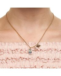Nadia Minkoff | Metallic Crystal Skull & Double Spike Necklace Crystal Paradise | Lyst