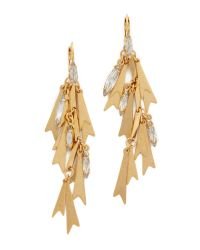 Elizabeth Cole | Metallic Golden Glow Earrings | Lyst