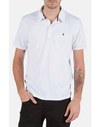 Volcom | White 'wowzer' Jersey Polo for Men | Lyst