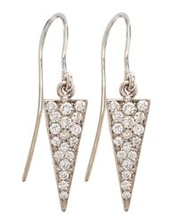 Janis Savitt | Metallic Diamond-spike 18k Gold Drop Earrings | Lyst