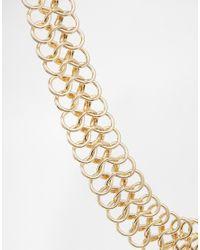 ASOS | Metallic Metal Tattoo Choker Necklace | Lyst