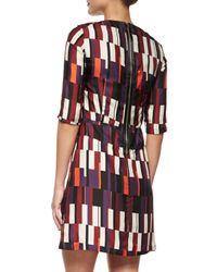 Rag & Bone - White Anne Printed Silk A-Line Dress - Lyst