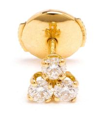 Yvonne Léon - Metallic Diamond 'trilogie' Stud Earring - Lyst
