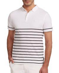 AG Green Label | White Sebastian Striped Polo for Men | Lyst