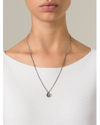 Bjorg | Metallic 'let The Mystery Be' Chain Necklace | Lyst