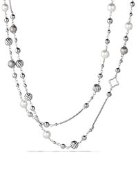 David Yurman | Metallic Infinity Station Necklace With Diamonds | Lyst