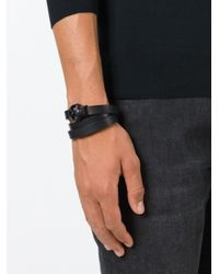 Alexander McQueen | Black Wrap Around Skull Bracelet for Men | Lyst