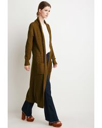 Forever 21 - Brown Contemporary Maxi Cardigan - Lyst