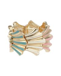 Mikey | Pink Elastic Shell Design Bracelet | Lyst