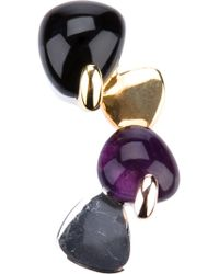 Uzerai Edits | Multicolor Amethyst And Onyx Pendant | Lyst