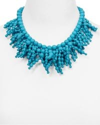 kate spade new york | Blue Fringe Appeal Necklace, 17"