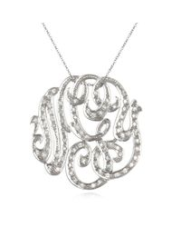 Ginette NY | Metallic Medium Diamond Lace Monogram Necklace | Lyst