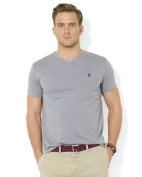 Polo Ralph Lauren | Gray Short-Sleeved V-Neck T-Shirt for Men | Lyst