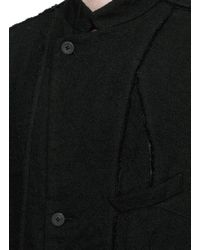 Ziggy Chen - Black Patchwork Panel Linen-wool Coat for Men - Lyst