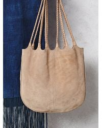 Free People | Natural Womens Decades Suede Tote | Lyst