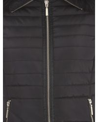 Jane Norman Black Fur Collar Short Padded Coat