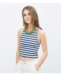 Zara | Multicolor Triangular Pieces Necklace | Lyst