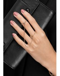 & Other Stories - Metallic Two-Finger Chain Ring - Lyst