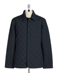 Lacoste | Blue Quilted Jacket for Men | Lyst
