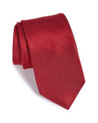 Michael Kors - Red 'natte Dot' Silk Tie for Men - Lyst
