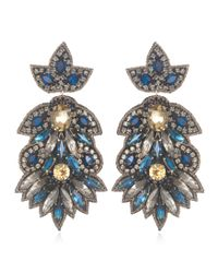 Suzanna Dai | Blue Navy Borghese Large Drop Earrings | Lyst