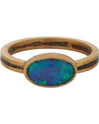 Judy Geib | Metallic Opal, Gold & Oxidized Silver Ring | Lyst