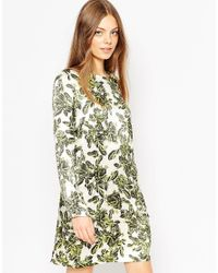 ASOS | Green Shift Dress With Pockets | Lyst