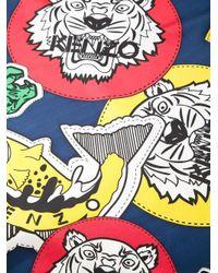 KENZO | Blue Multi Logo Print Scarf | Lyst